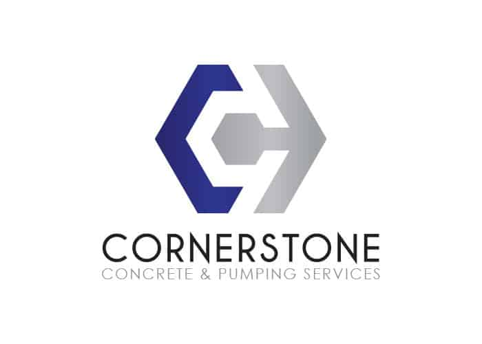 Cornerstone Concrete & Pumping Services Logo Design by Daniel Sim