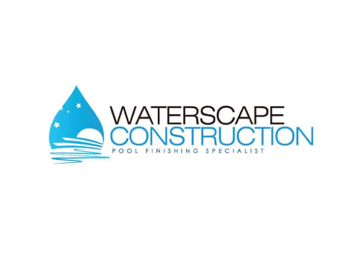 Waterscape Construction Logo Design by Daniel Sim
