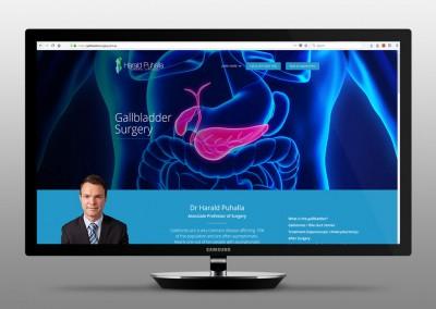 Dr Harald Puhalla General Surgeon Website Design Gold Coast