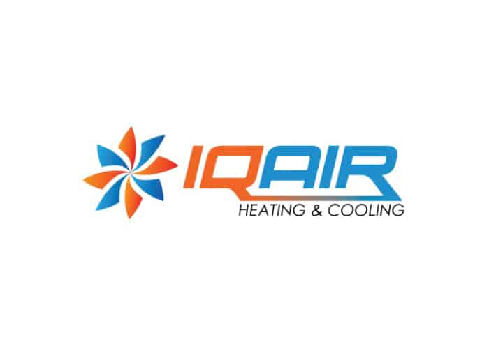 IQ Air Heating and Cooling Logo Design by Daniel Sim